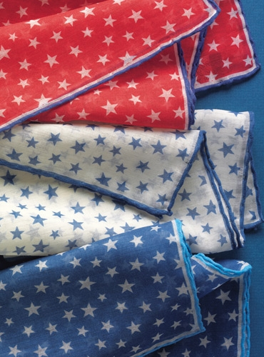 Cotton and Cashmere Star Motif Pocket Squares