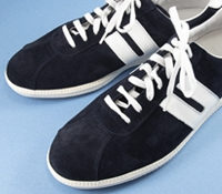 Ludwig Reiter Suede Sneakers in Navy and White, Size 44