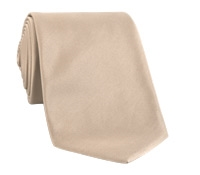 Mogador Silk Solid Signature Tie in Beige
