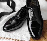 The Chatham Black Patent Oxford