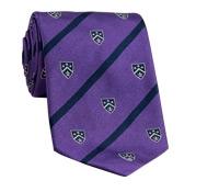 Silk Woven Club Tie in Violet