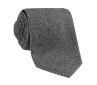 Wool Solid Tie in Charcoal