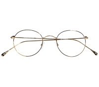Nearly Round Metal Frames in Gold