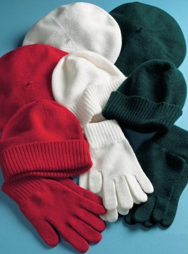 Ladies Cashmere Berets, Watch Caps & Gloves