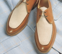 The Stanford Blucher in Whiskey and Linen