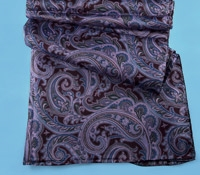 Ladies Silk Paisley Scarf in Wine