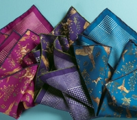 Silk Hunting Print Reversible Pocket Squares