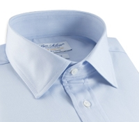 Classic Blue Twill Spread Collar in Trim Fit