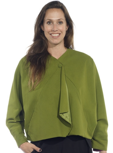 Marie Meunier Cotton Jacket in Green