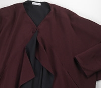 Marie Meunier Wool Crepe Jacket in Purple