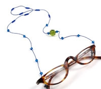 Green and Blue Crystal Eyewear Chain