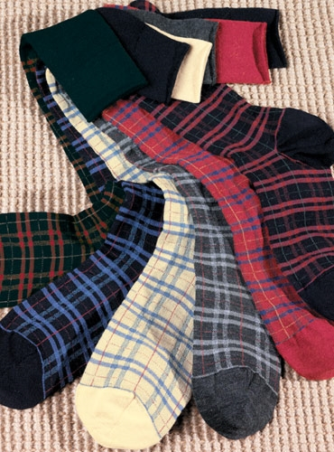 Plaid 85% Wool Socks