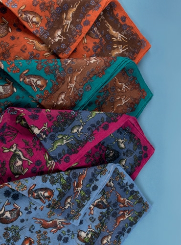 Cotton and Cashmere Rabbit Printed Pocket Squares