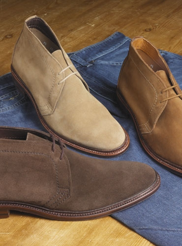 The alden chukka boots in suede for The alden