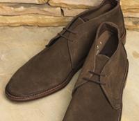 The Alden Chukka Boots in Dark Brown Suede
