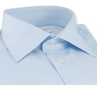 Classic Blue Twill French Cuff Shirt