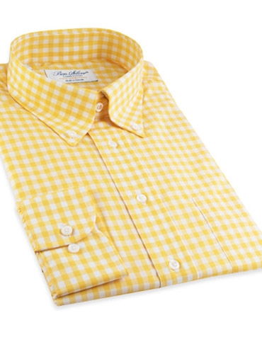 Yellow gingham shirt for Mens yellow gingham shirt