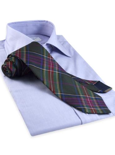 Silk Woven Plaid Tie in Tartan