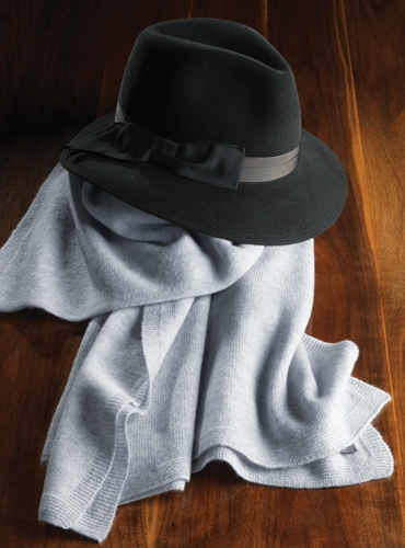 Felt Fedora Hat in Black