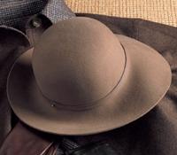 Ladies Felt Wide Brimmed Hat in Stone