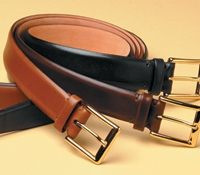 Overstock Feathered Edge Bridle Leather Belt
