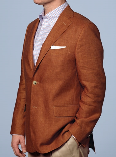 Tuscan Red Linen Sport Coat