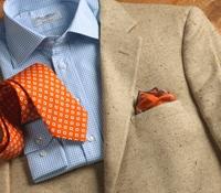 Pearl and Sable Silk Herringbone Sport Coat