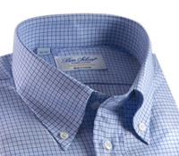 140s Sky and Cobalt Check Button Down