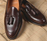 The Alden Tassel Moccasin in Burgundy