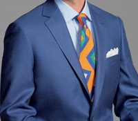 Rich Blue Camelhair and Silk Sport Coat