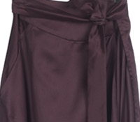 Marie Meunier Apostrophe Wrap Skirt in Purple