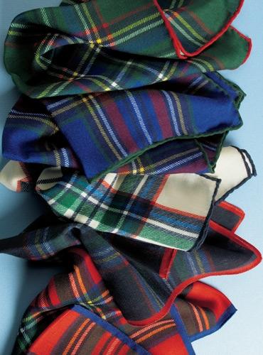Wool Tartan Pocket Square