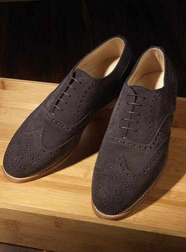 The Fayetteville Oxford in Chocolate Suede