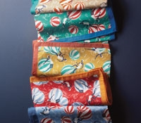 Cotton Pocket Square with Beach Ball Motif