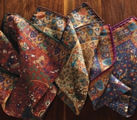 Wool and Silk Tapestry Motif Printed Pocket Squares