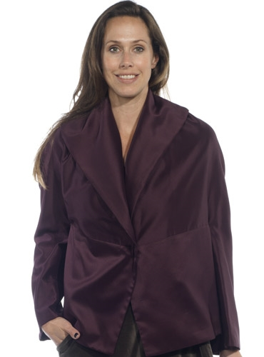 Marie Meunier Paleto Jacket in Purple
