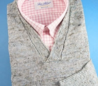 Linen Melange Sweater in Dockside