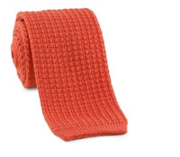 Sea Island Knit Tie in Coral