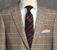 Jacket Cashmere Brown/Cream Glen Plaid Sky Windowpane