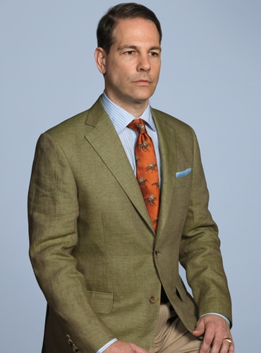 Forest Green Linen Sport Coat