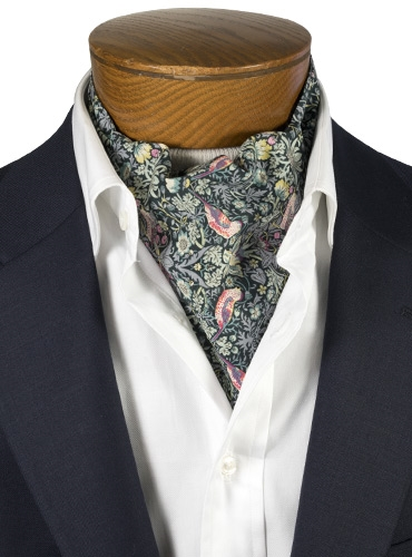 Cotton Liberty Print Ascot in Midnight