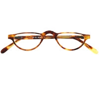 Silver Line Half Moon Reader in Paris Tortoise