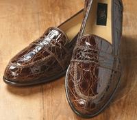 The Crocodile Loafer in Dark Brown