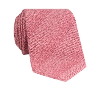 Silk Woven Tie in Rose