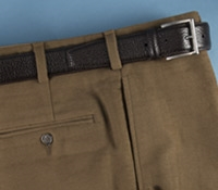 Moleskin Trousers in Brown, Plain Front