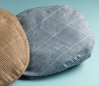 Wool and Linen Garforth Cap in Navy Glen Plaid