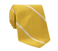 Silk Woven Bar Stripe Tie in Marigold