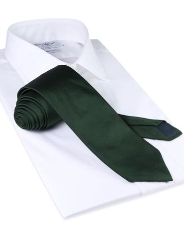 Silk Solid Tie in Tartan
