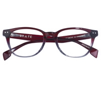 Taylor Rounded Brow Semi-Square Frame in Garnet