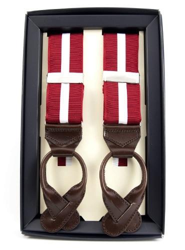 Single Stripe Braces in Red